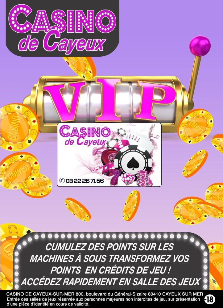 Carte de fidélité du Casino de Cayeux